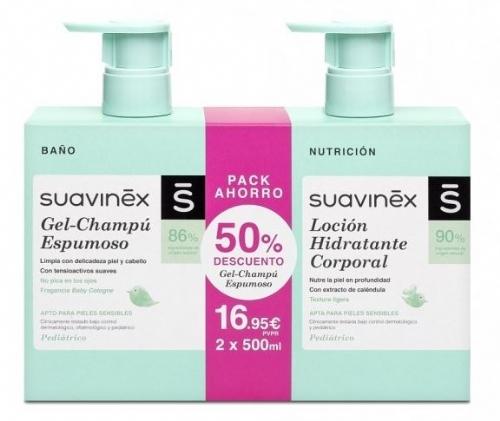Suavinex duplo gel espumoso + locion (pack 500 ml + 500 ml)