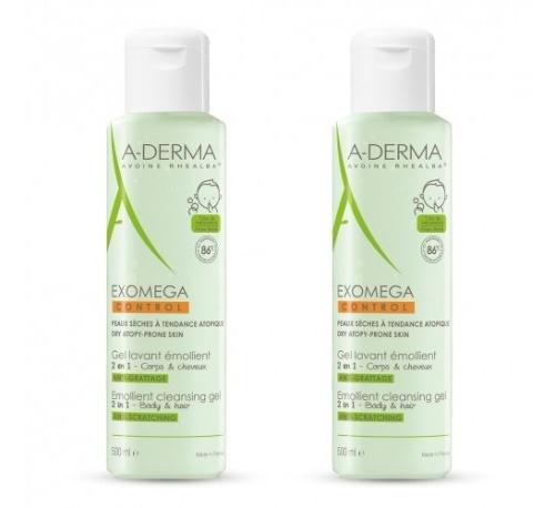 A-derma exomega duplo gel lavante emoliente 2 en 1 500ml