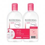 Bioderma sensibio duplo agua micelar 500ml + 500ml.