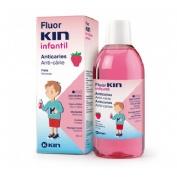 Fluor kin infantil enjuague bucal (1 envase 500 ml fresa)