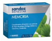 SANDOZ BIENESTAR MEMORIA (30 CAPS)