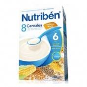 Nutriben papilla 8 cereales galletas maria (1 envase 600 g)