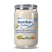 Nutriben suprema de merluza con guisantes zanahorias (1 potito 235 g)
