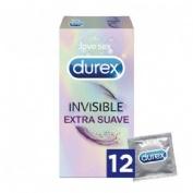 DUREX INVISIBLE EXTRA FINO EXTRA SENSITIVO - PRESERVATIVOS (12 U)