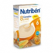 Nutriben 8 cereales y miel fibra (1 envase 600 g)