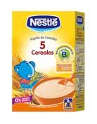 Nestle papilla 5 cereales sin leche (1 envase 600 g)